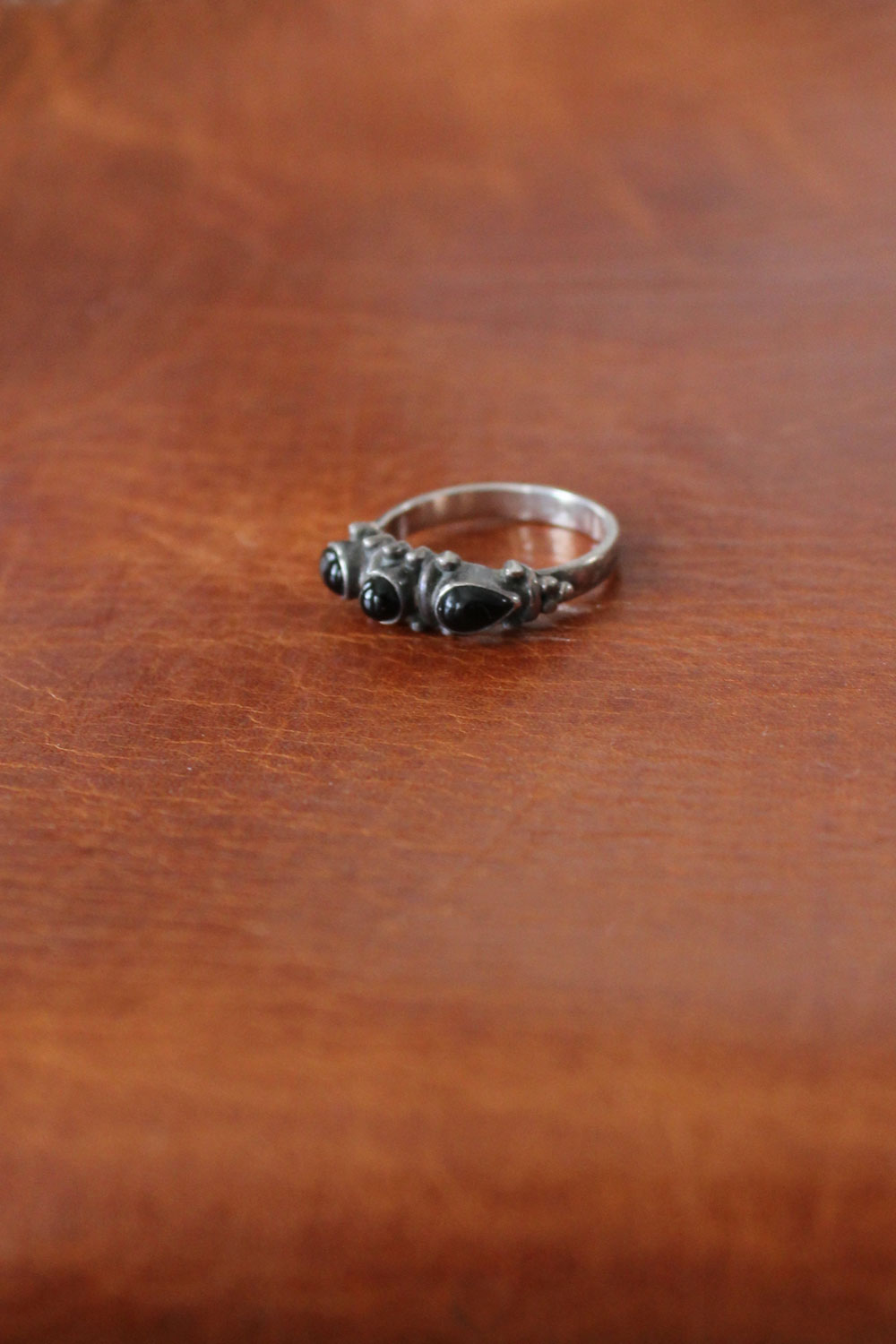 Black Triple Band Ring