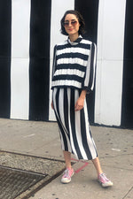 Virgo B&W Striped Dress M/L