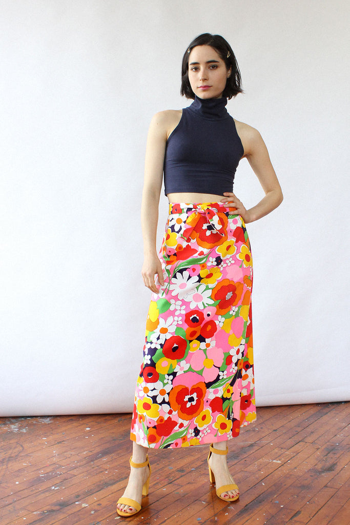 Trippy Floral A-line Skirt XS