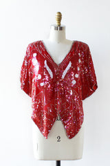 Rose Sequin Butterfly Top XS/S