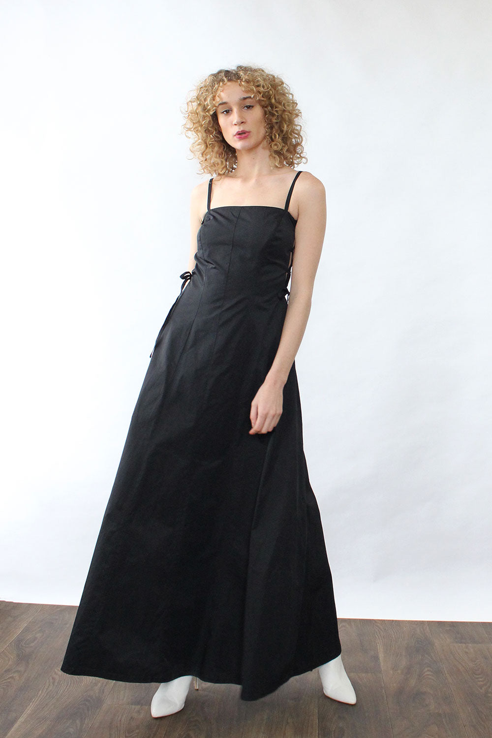 Y2K Lace-up Maxi Dress S/M