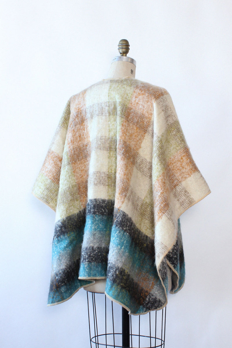Mohair Earthen Plaid Shawl