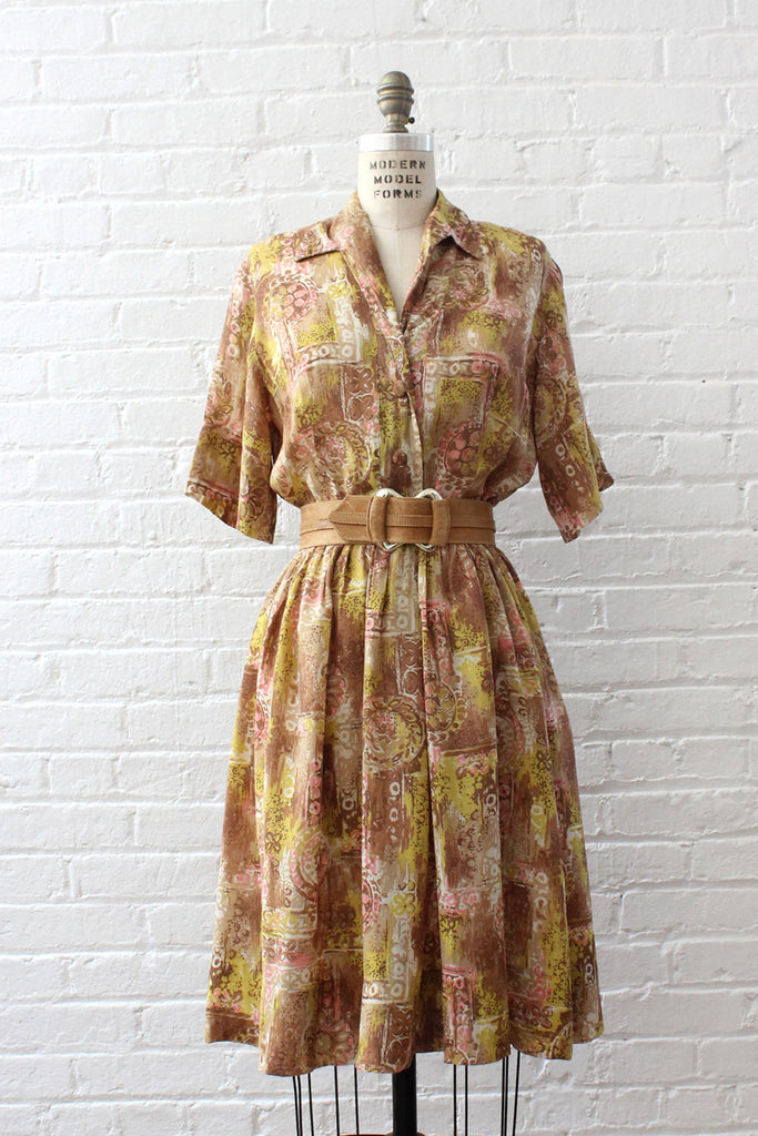 Midcentury Ann Taylor Dress M/L