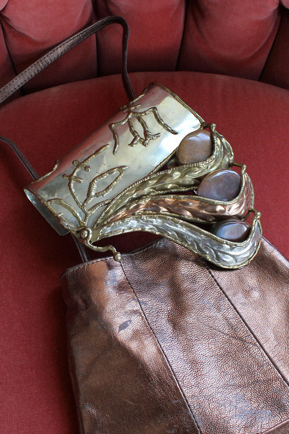 Bronze Brutalist Crossbody Bag