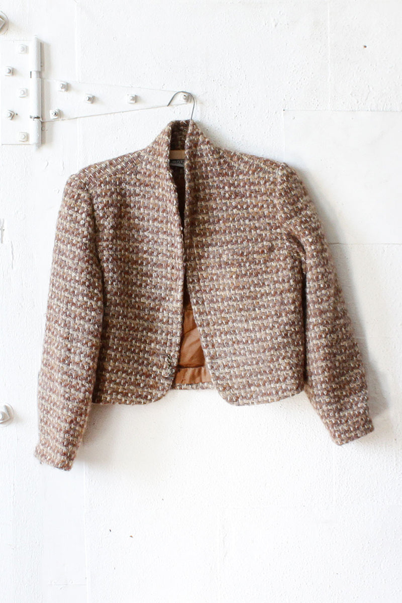 Chunky Tweed Crop Jacket S