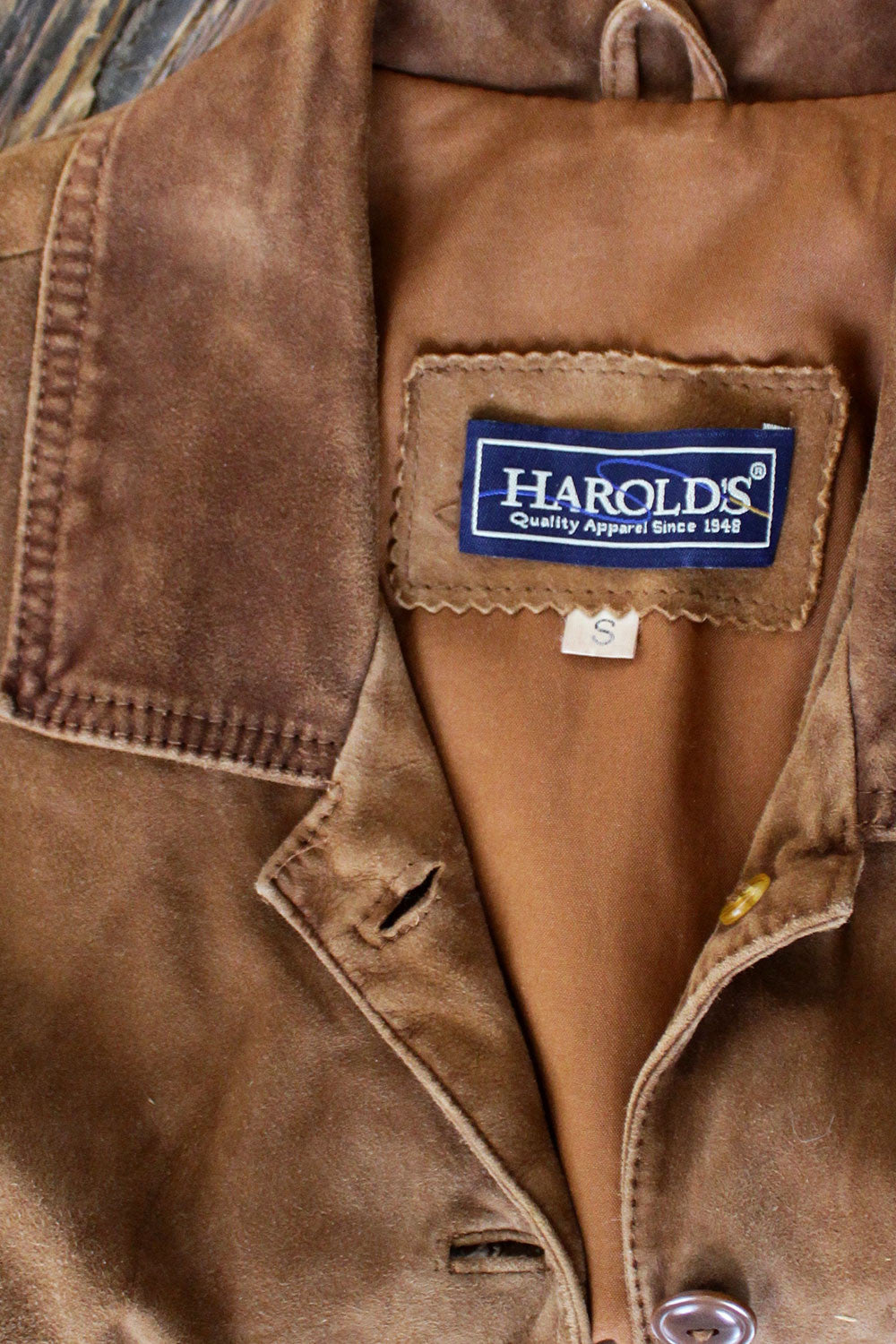 Harold's Fitted Suede Vest S