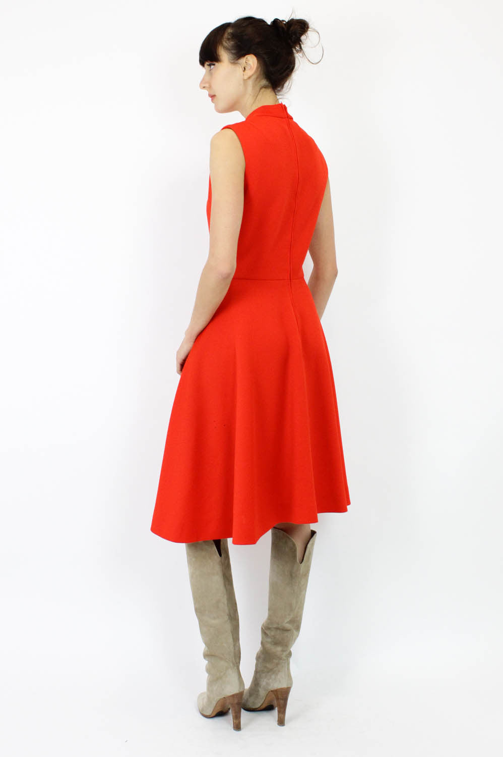 Leslie Fay Ruby Red Dress M