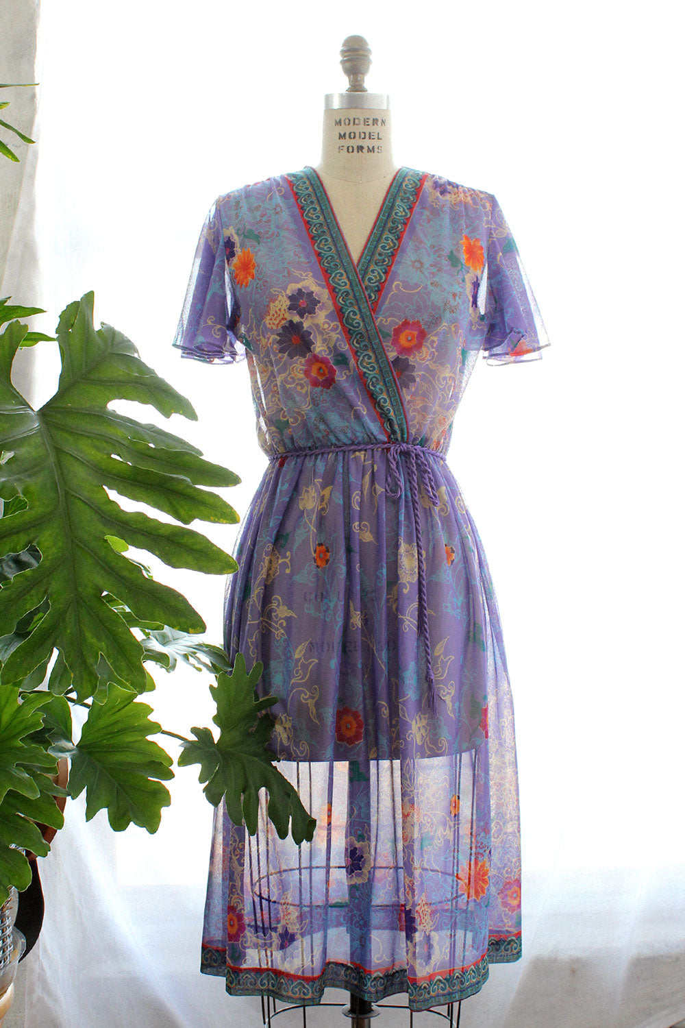 Sheer Lilac Whimsy Dress S/M