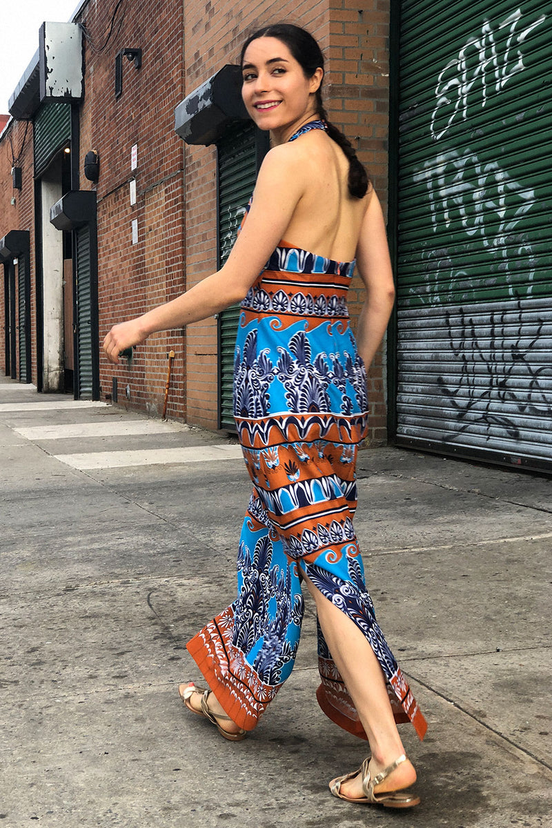 Tapestry Halter Maxi Dress S