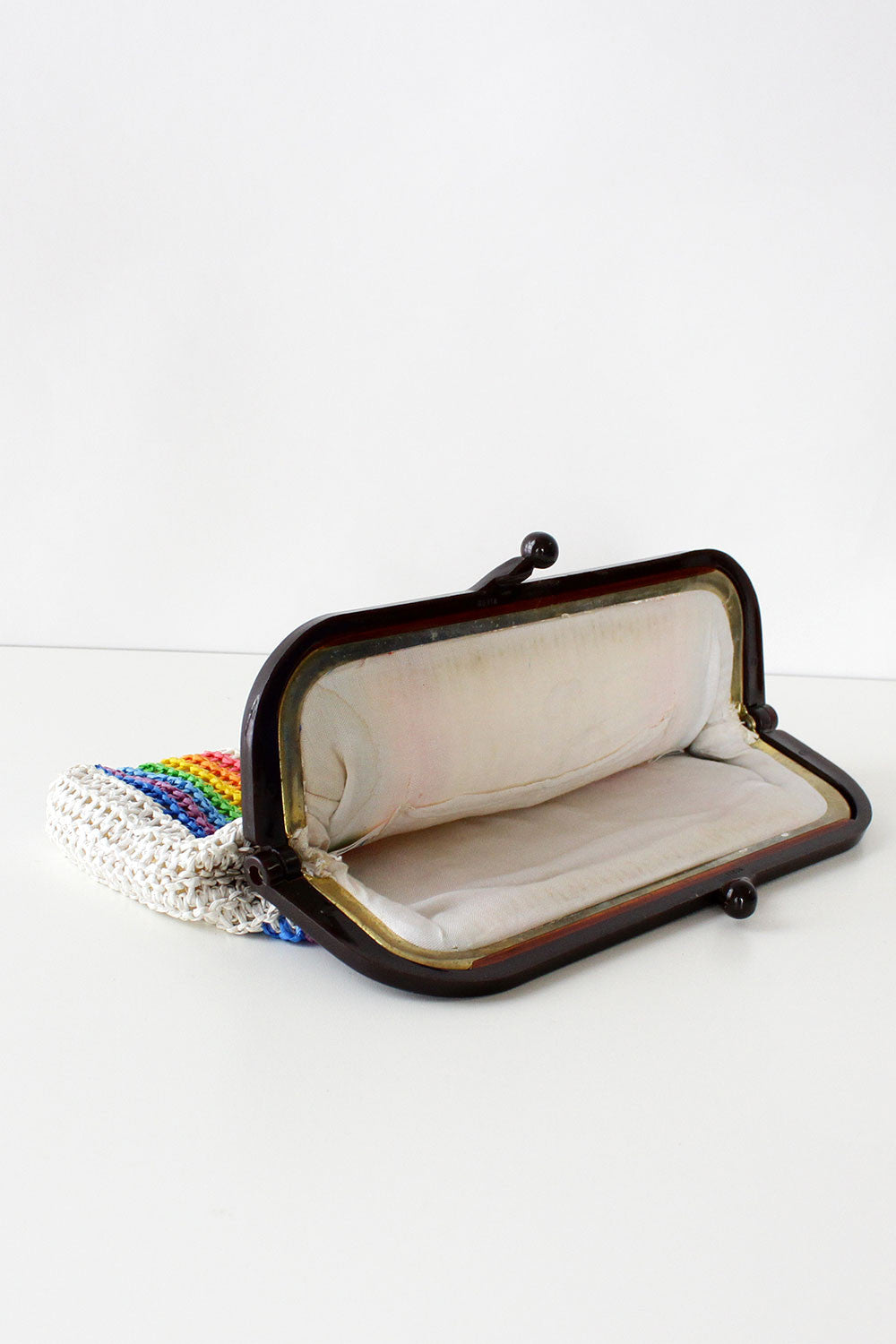 Double Rainbow Raffia Clutch