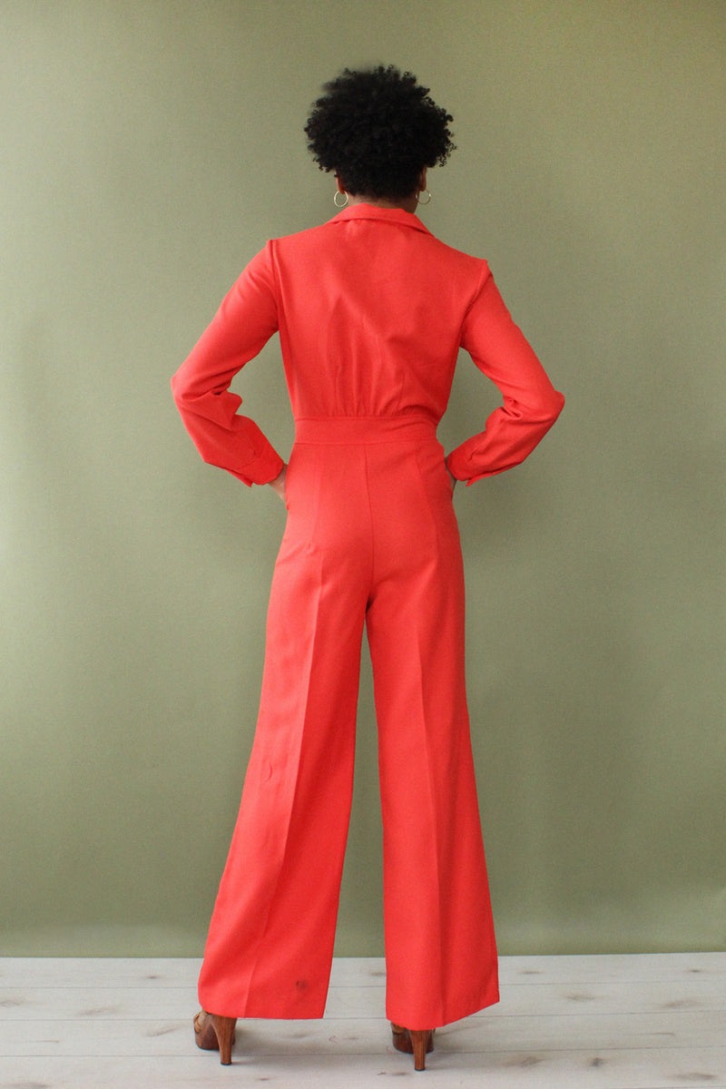 Dallas Electric Coral Jumpsuit S/M