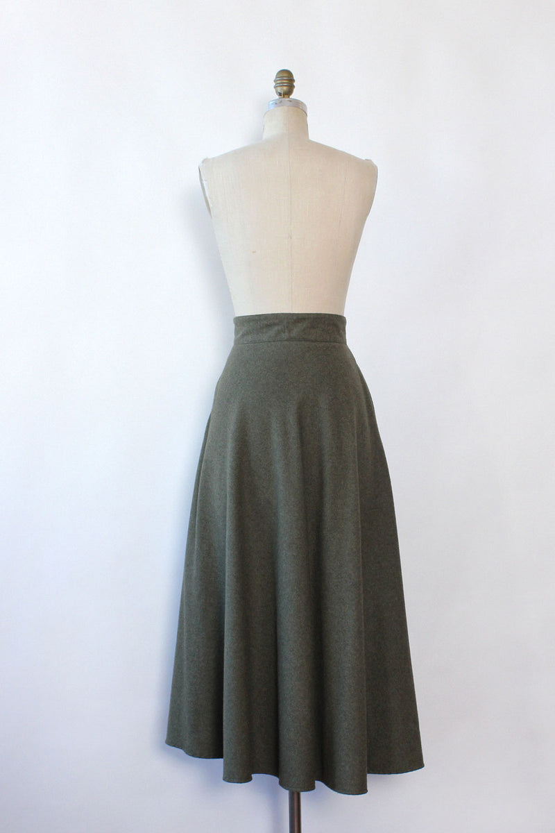 Bravo Army Green Flare Skirt M/L