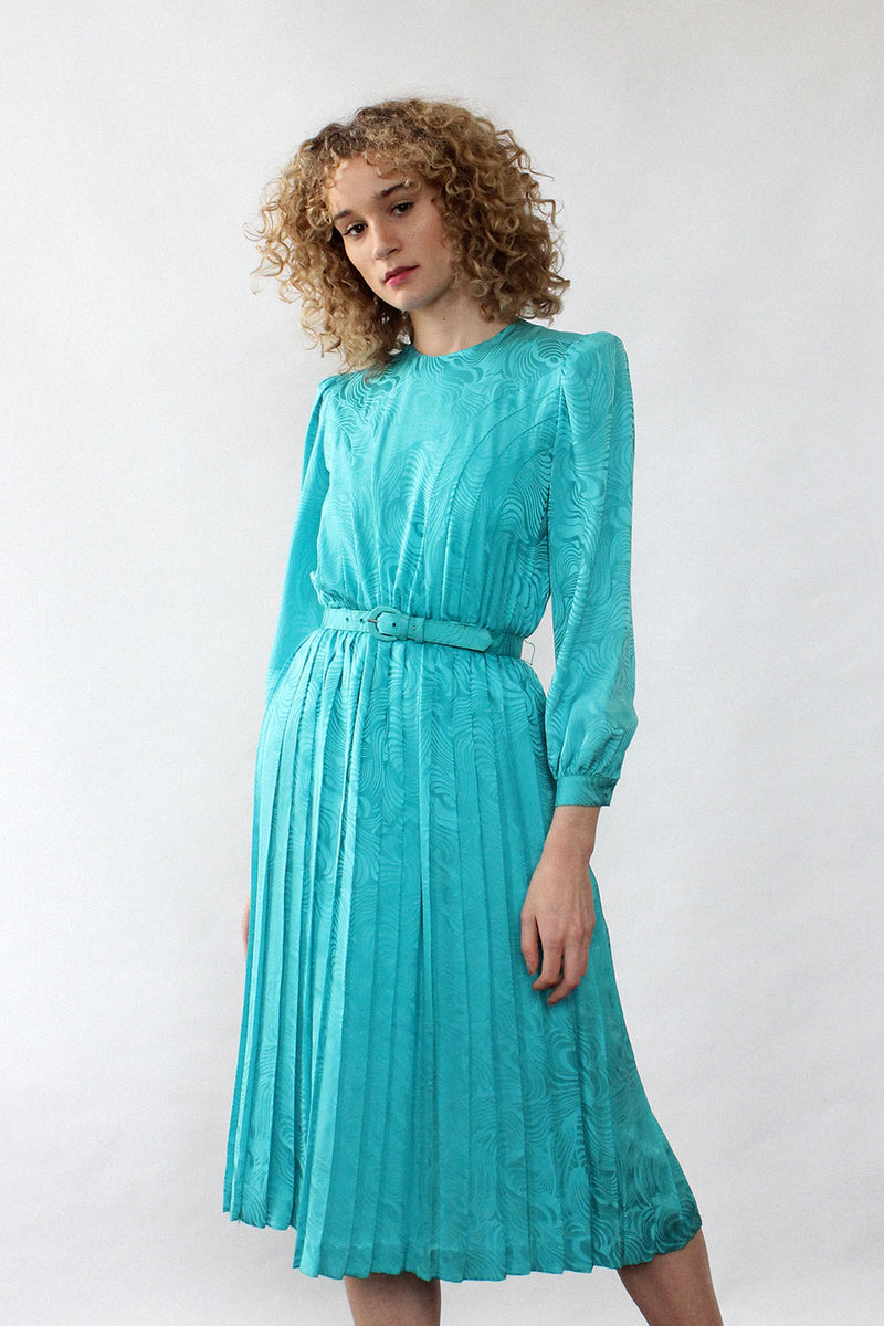 Argenti Turquoise Silk Dress XS/S