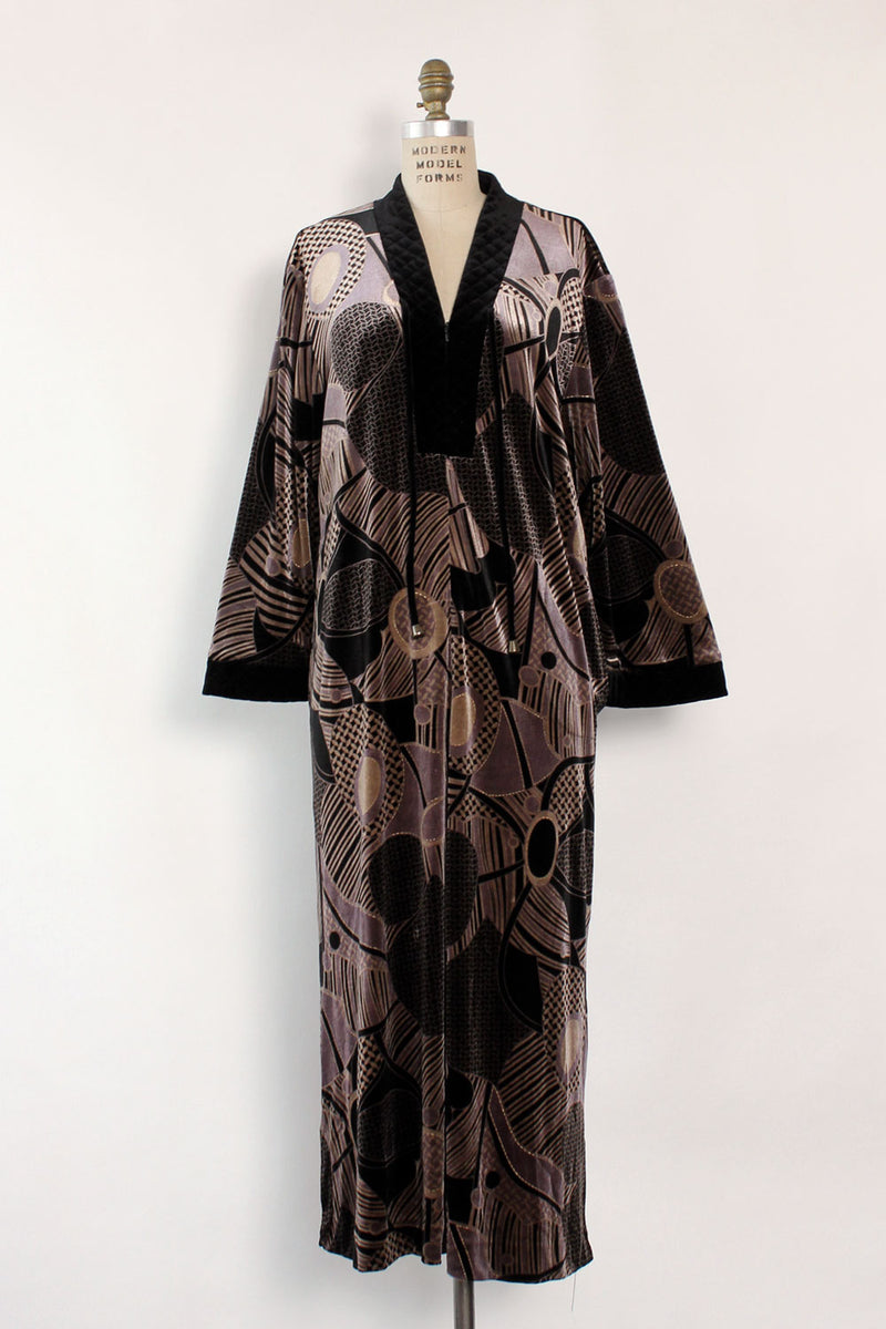 Velvet Deco House Dress XS-M
