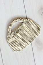 Blanco Bead Purse
