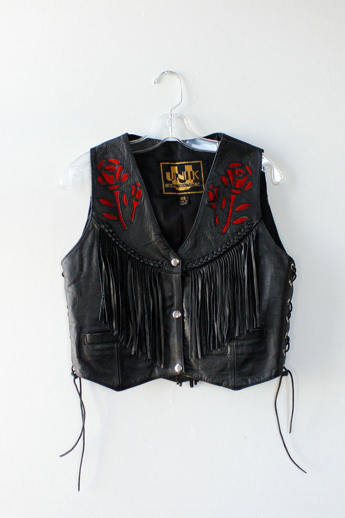 American Beauty Leather Vest XS/S