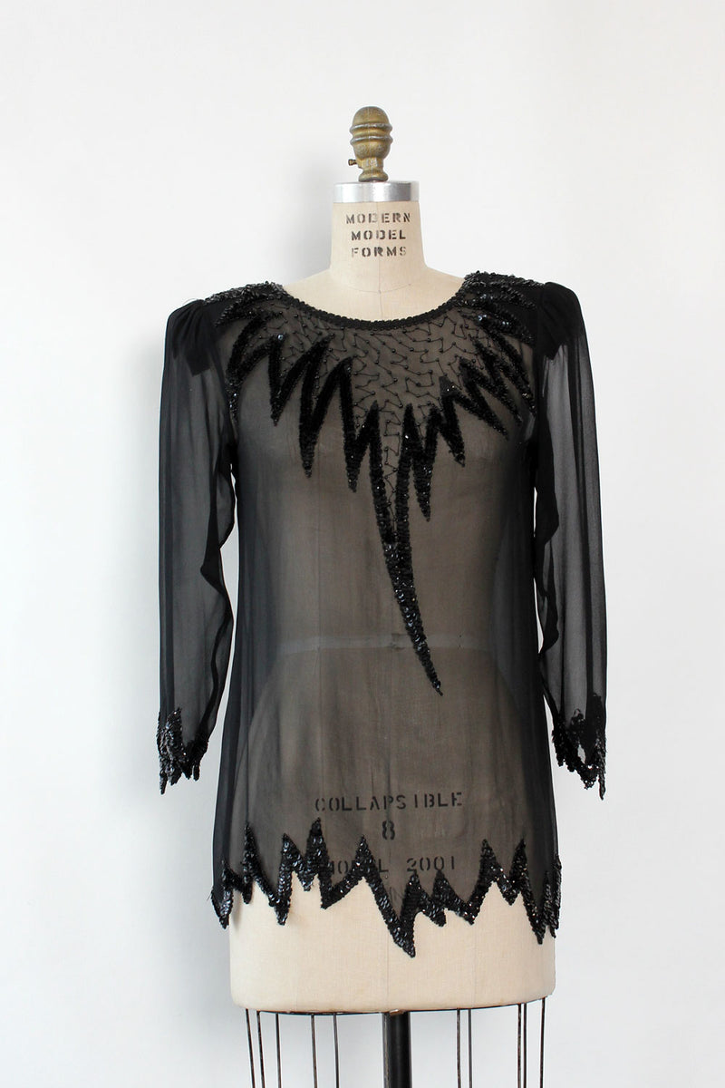 Sheer Swee Lo Sequin Tunic S/M