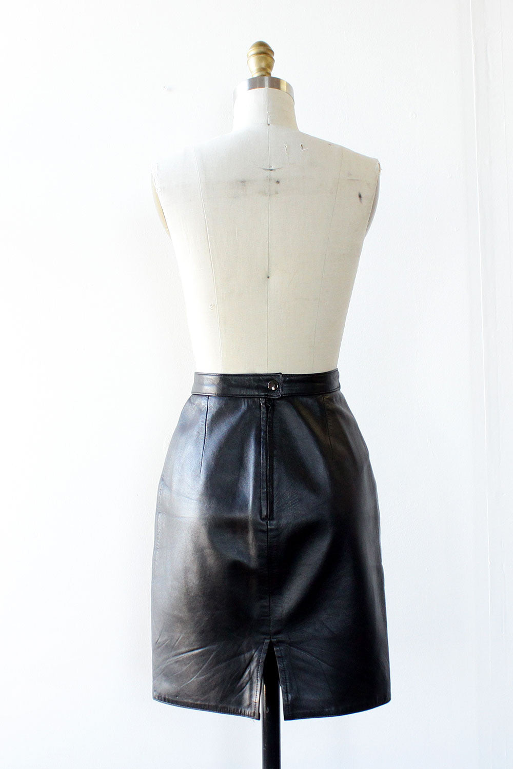 Buttery Leather Mini Skirt S