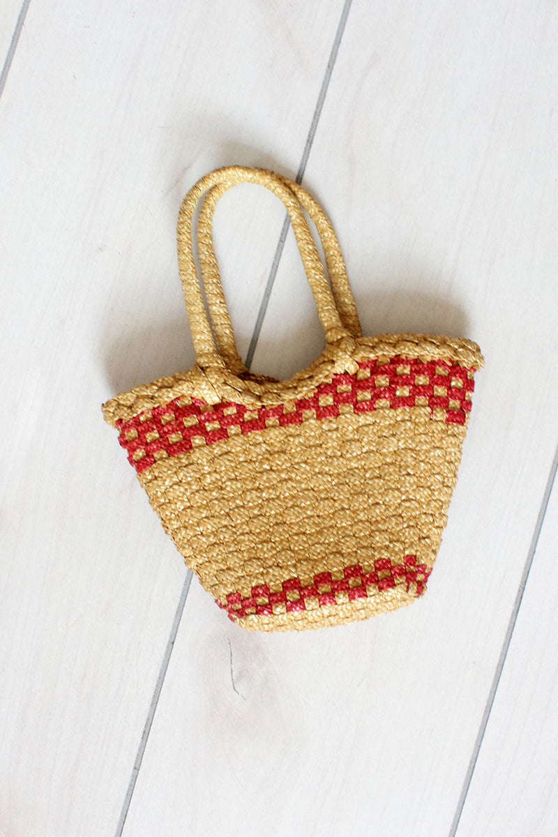 Straw Blueberry Tote