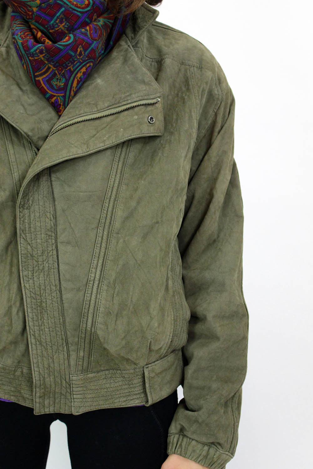 green aviator jacket