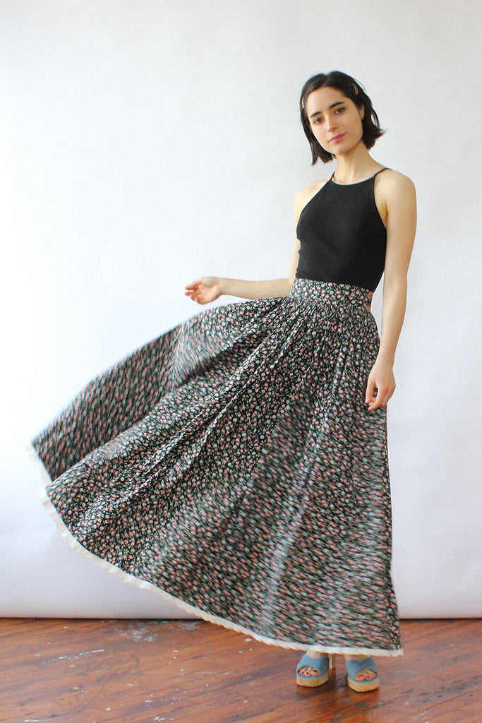 Ophelia Calico Skirt XS