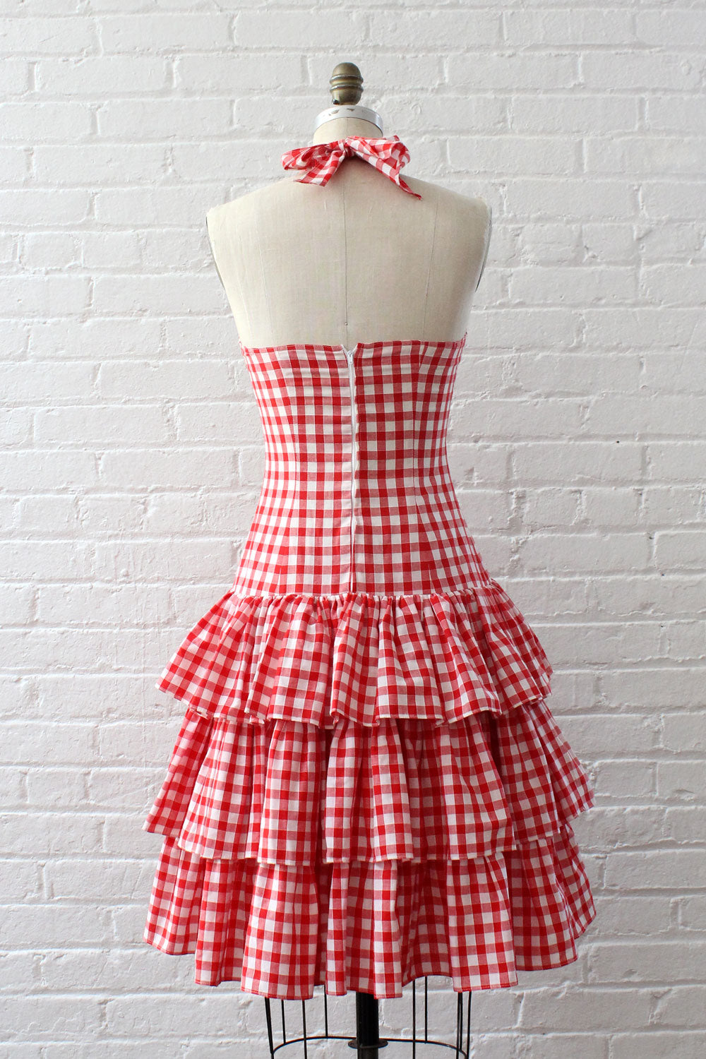 Bella Gingham Tiered Dress S/M