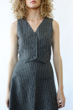 Pinstripe 3pc Skirt Suit XS