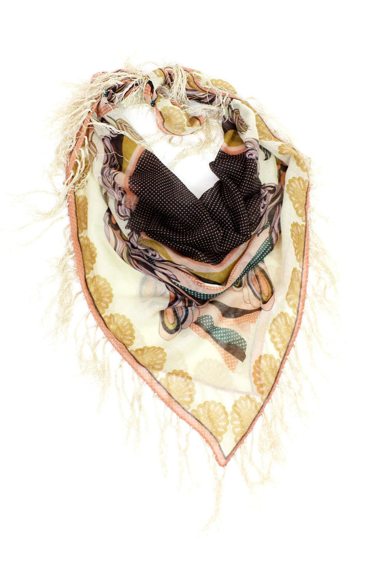 dreaming of roses fringe scarf