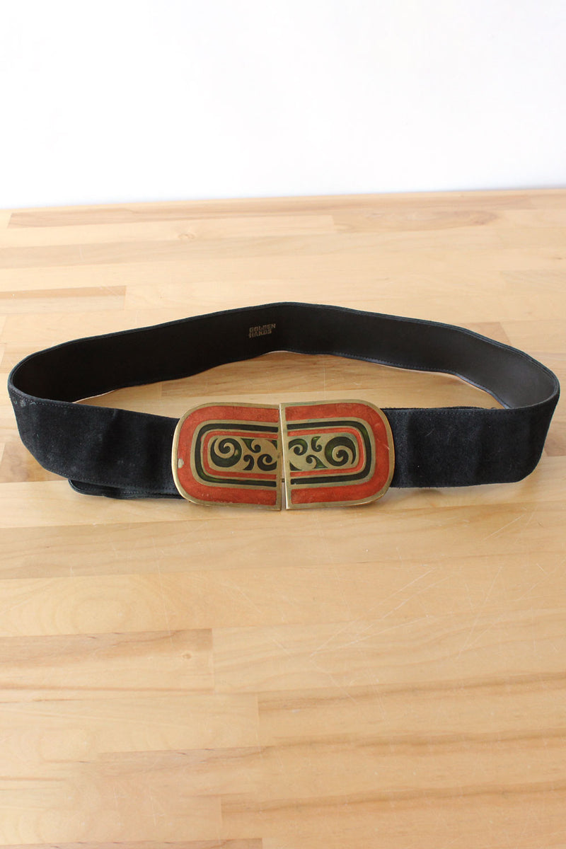 Golden Hands Enamel Buckle Belt