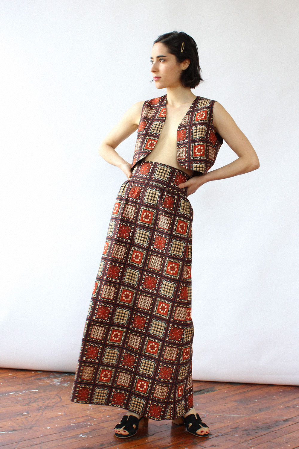 Folksy Cropped Maxi Set S