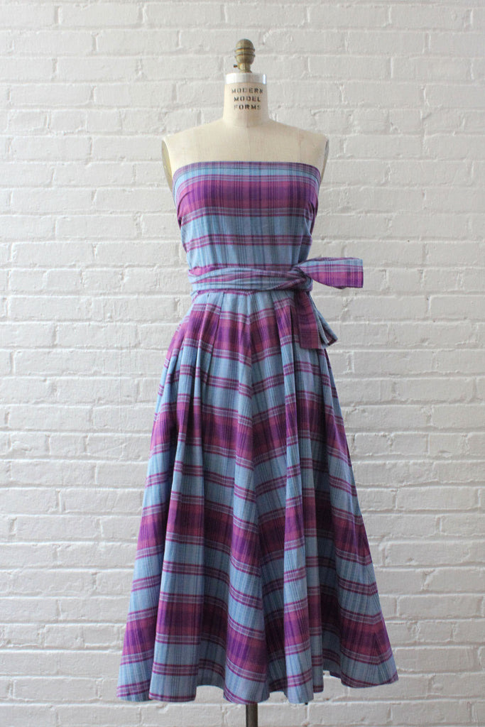 Toni Owen Plaid Convertible Dress XS/S