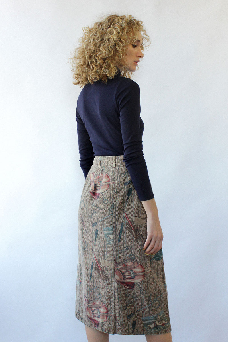 On The Ranch Wrap Skirt M