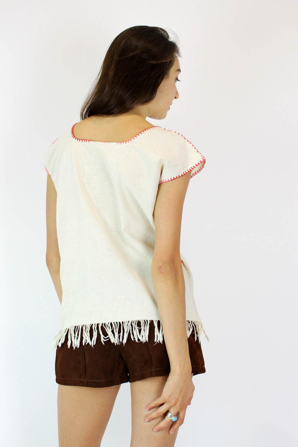 Folk Floral Embroidered Top