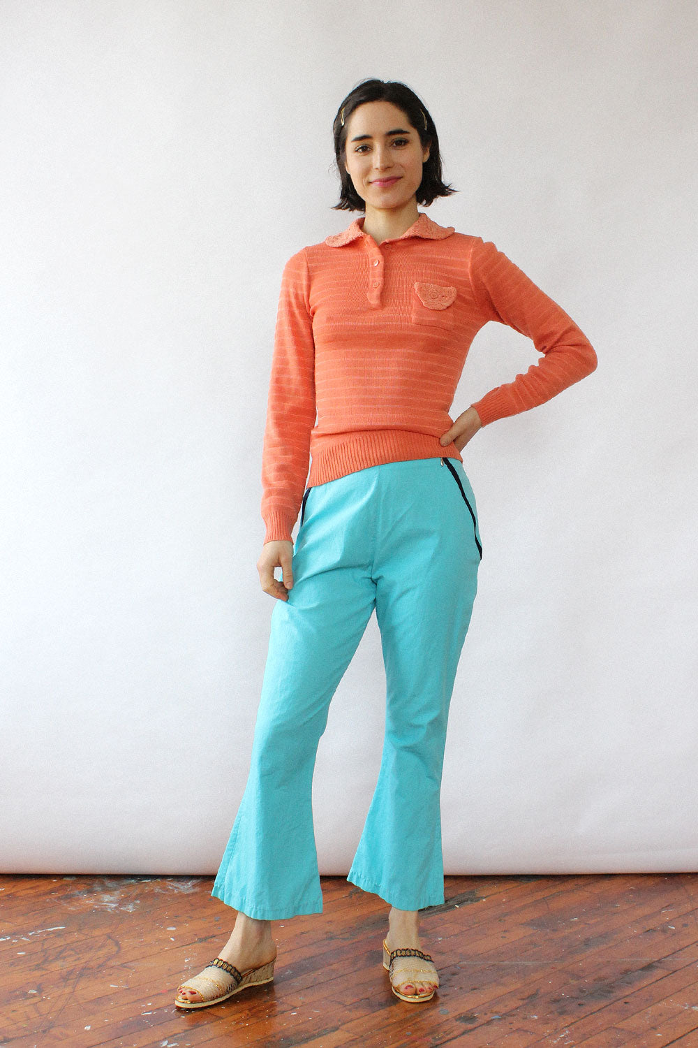 Coral Chenille Sweater XS-M