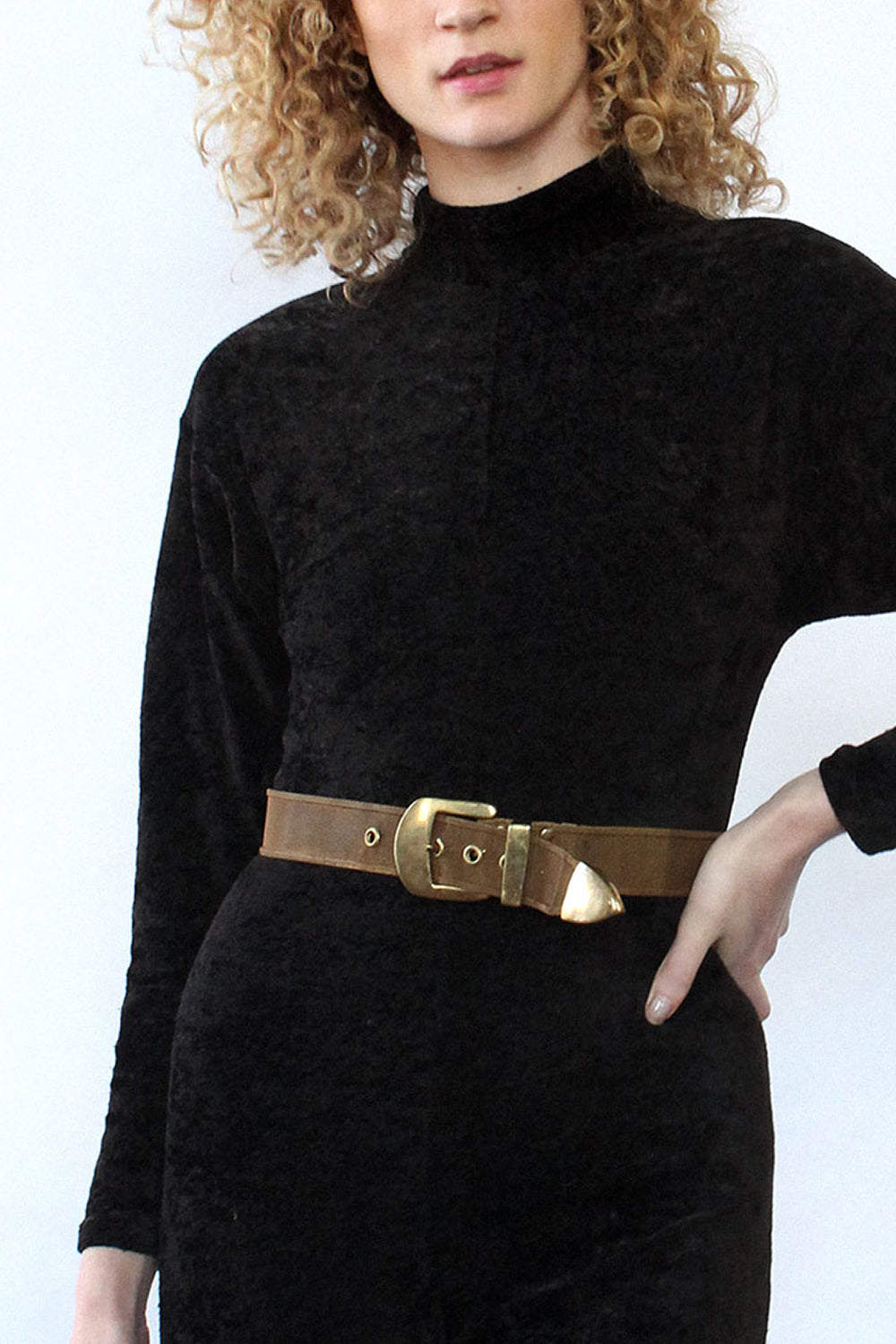 Bronzed Metal Mesh Belt
