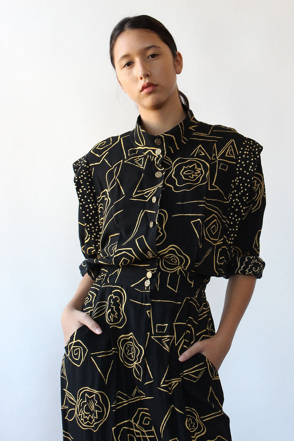Choon Abstract Floral Dress M/L
