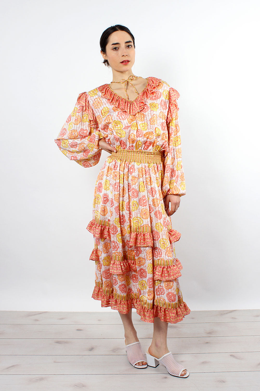 Sherbert Floral Ruffle Dress S-L
