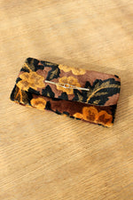 Amber Tufted Tapestry Clutch