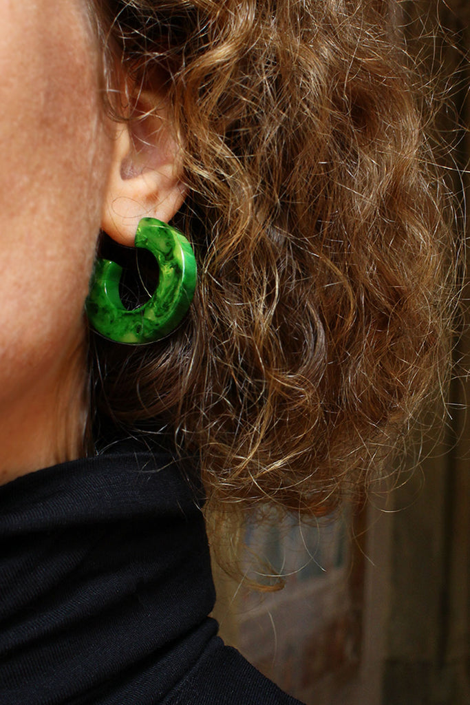 Marbled Green Hoops
