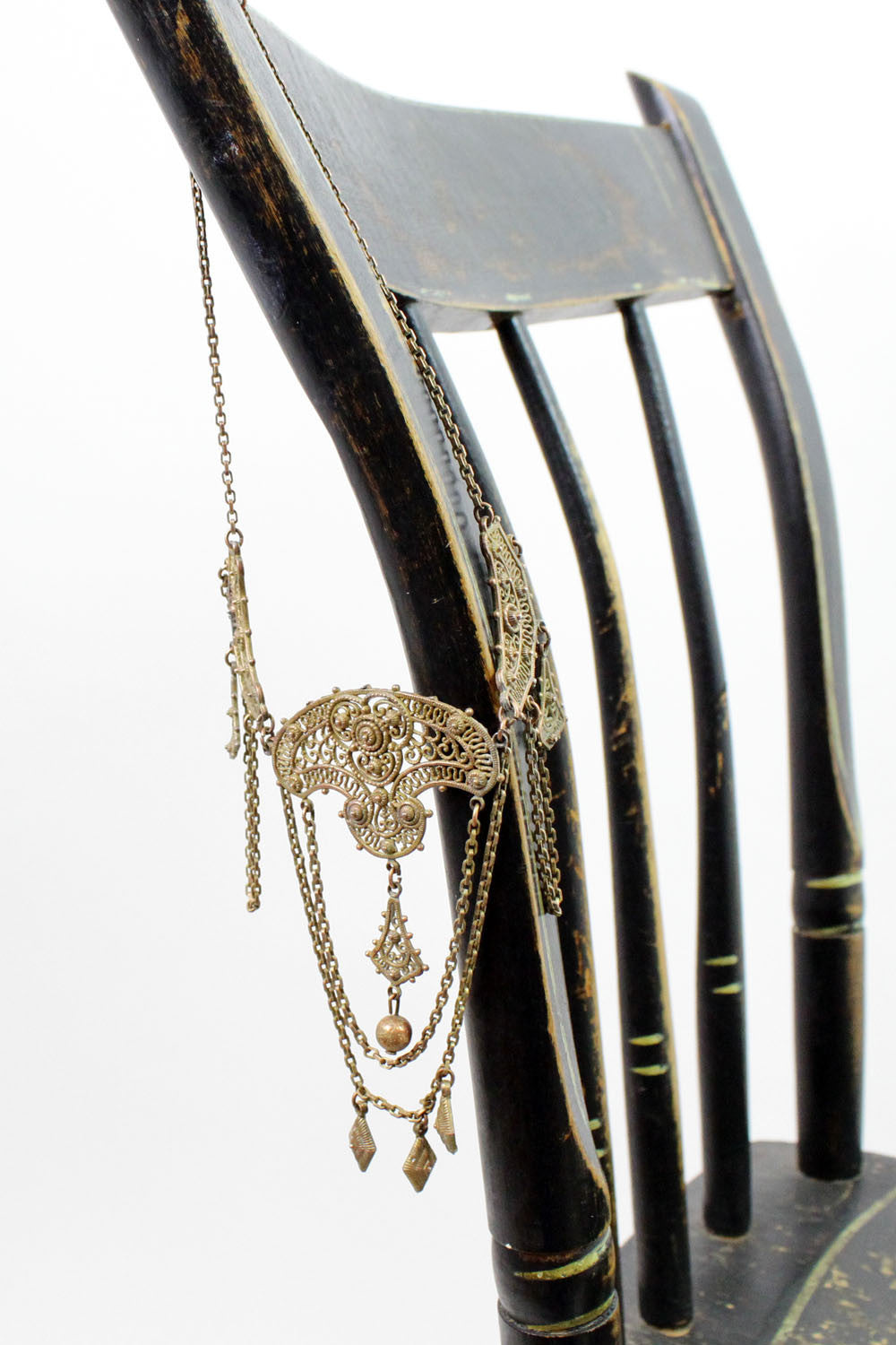 1920s filigree cascade necklace