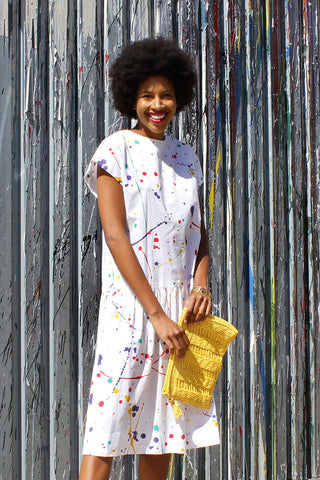 Splatter Paint Drop Dress S/M