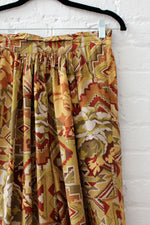 Rayon Pleat Pattern Pants S/M