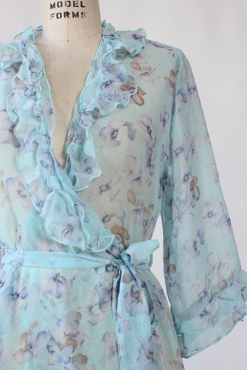 Sky Blue Sheer Wrap Dress S/M