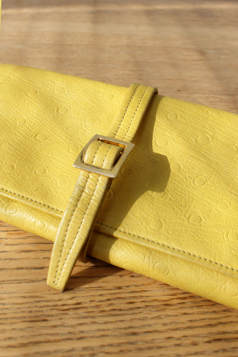 Canary Yellow Ostrich Wallet