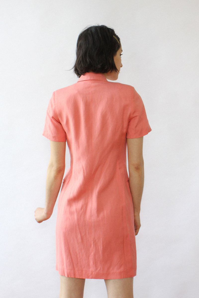 Salmon Blazer Dress XS