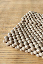 Au Lait Beaded Clutch