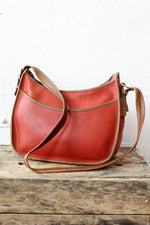 Red Trimmed Coach Bag