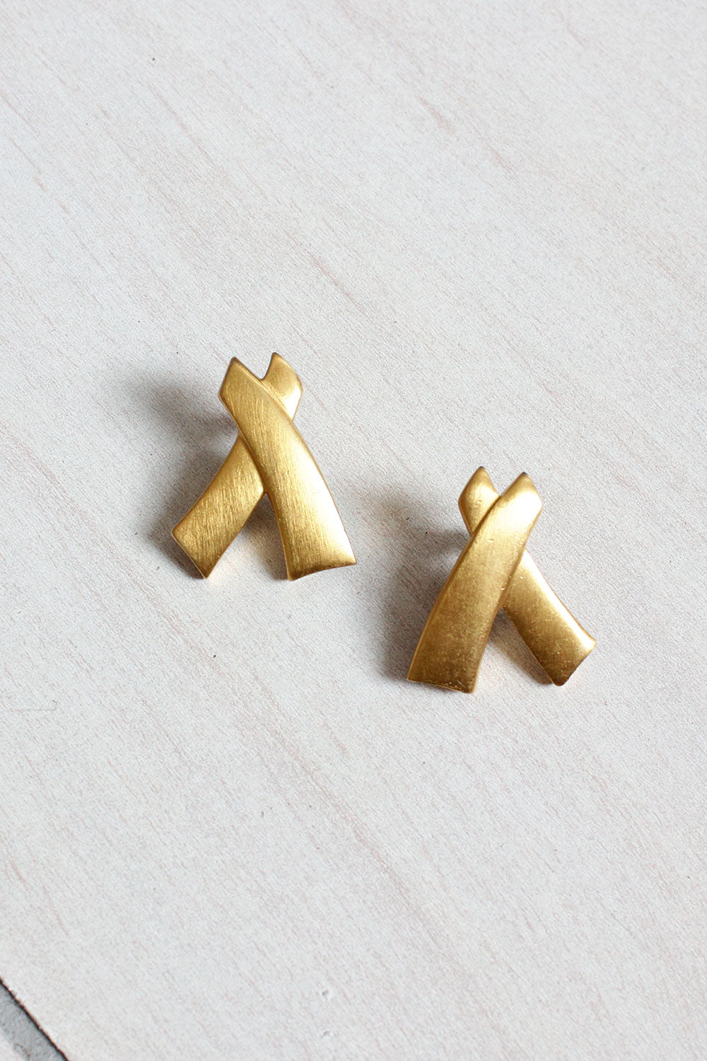 Goldtone XX Earrings