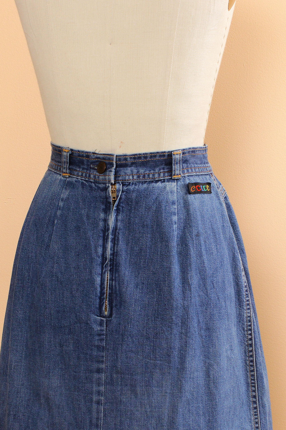 Sia Denim Yoke Skirt S