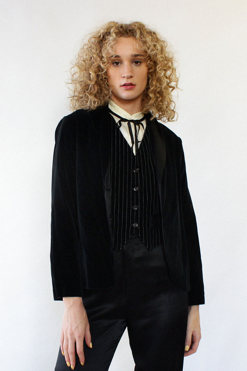 Velvet & Satin 1970s Evening Suit S/M